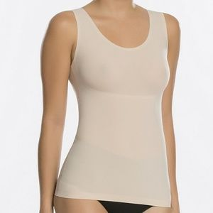 Spanx nude beige thinstincts compression tank top